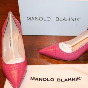 EUC Manolo Blahnik Pattie Pink 38.5 (8.5) Pump